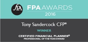 FPA Awards - Tony Sandercock CFP - Certified Financial Planner of the Year 2016
